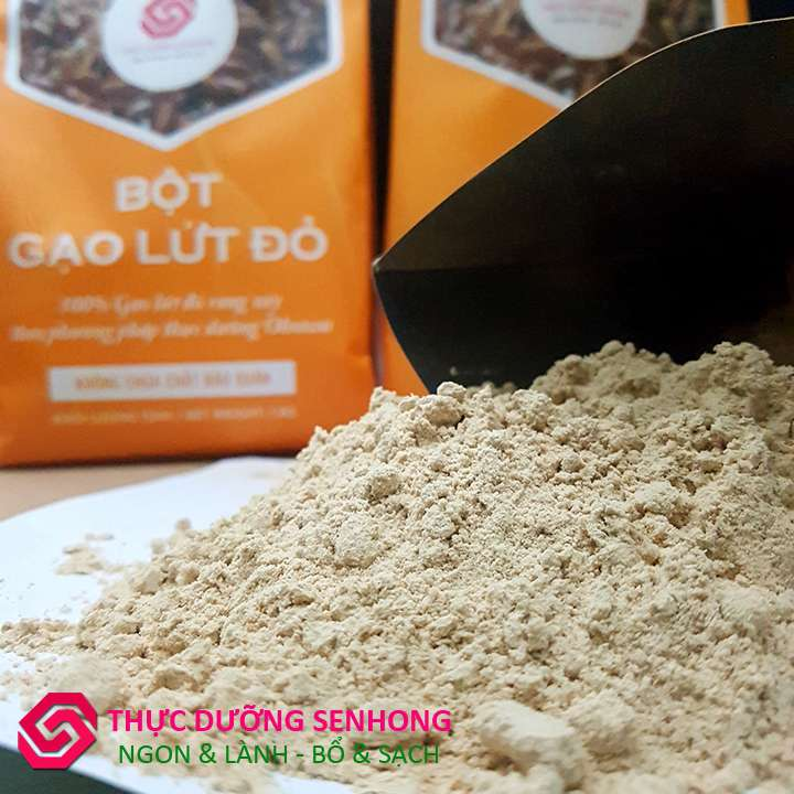 Bột gạo lứt đỏ - Gạo lứt hữu cơ rang xay theo phương pháp thực dưỡng Ohsawa