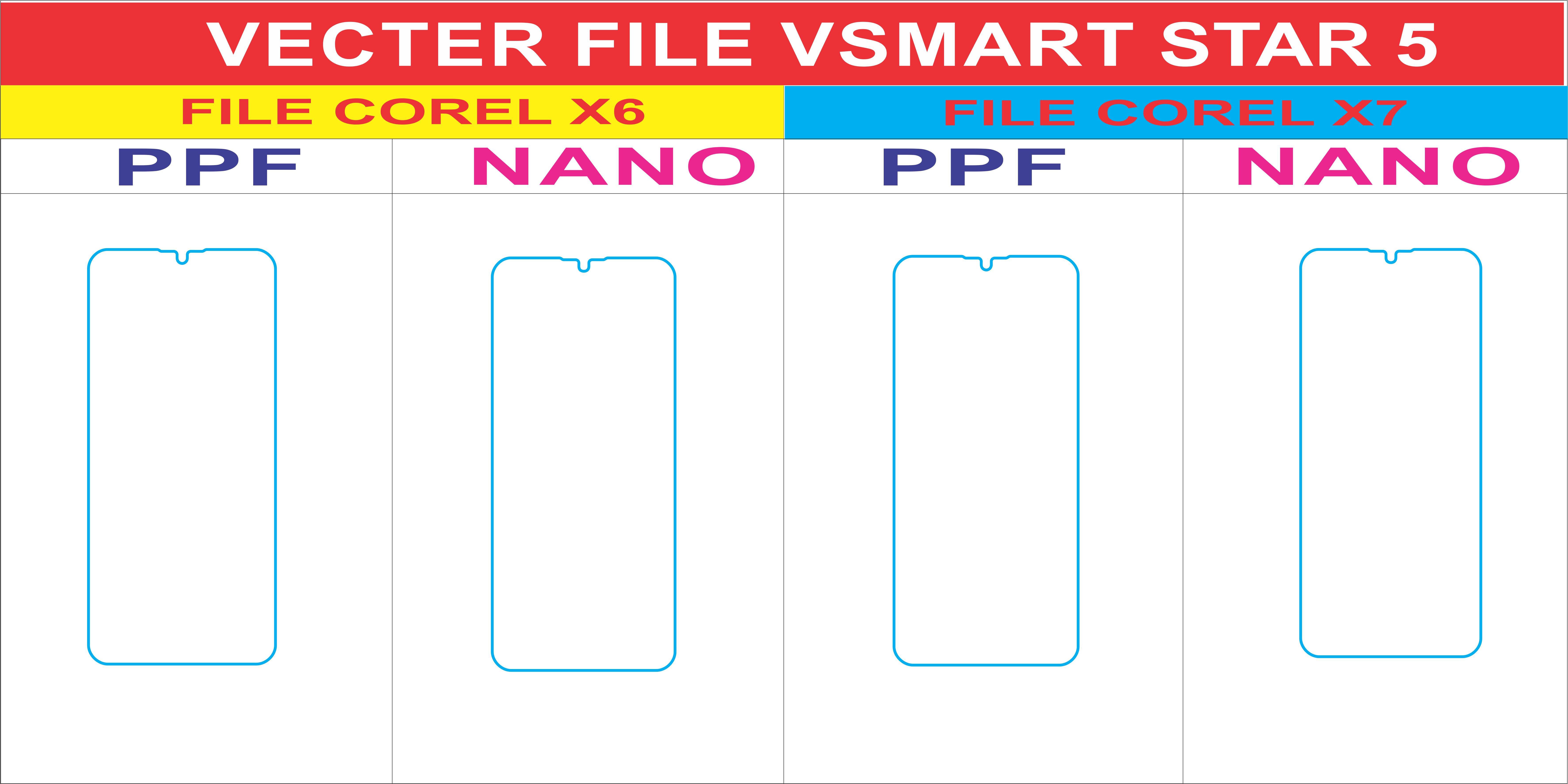 Free File Dán Màn Hình VSMART STAR 5 Template Vector