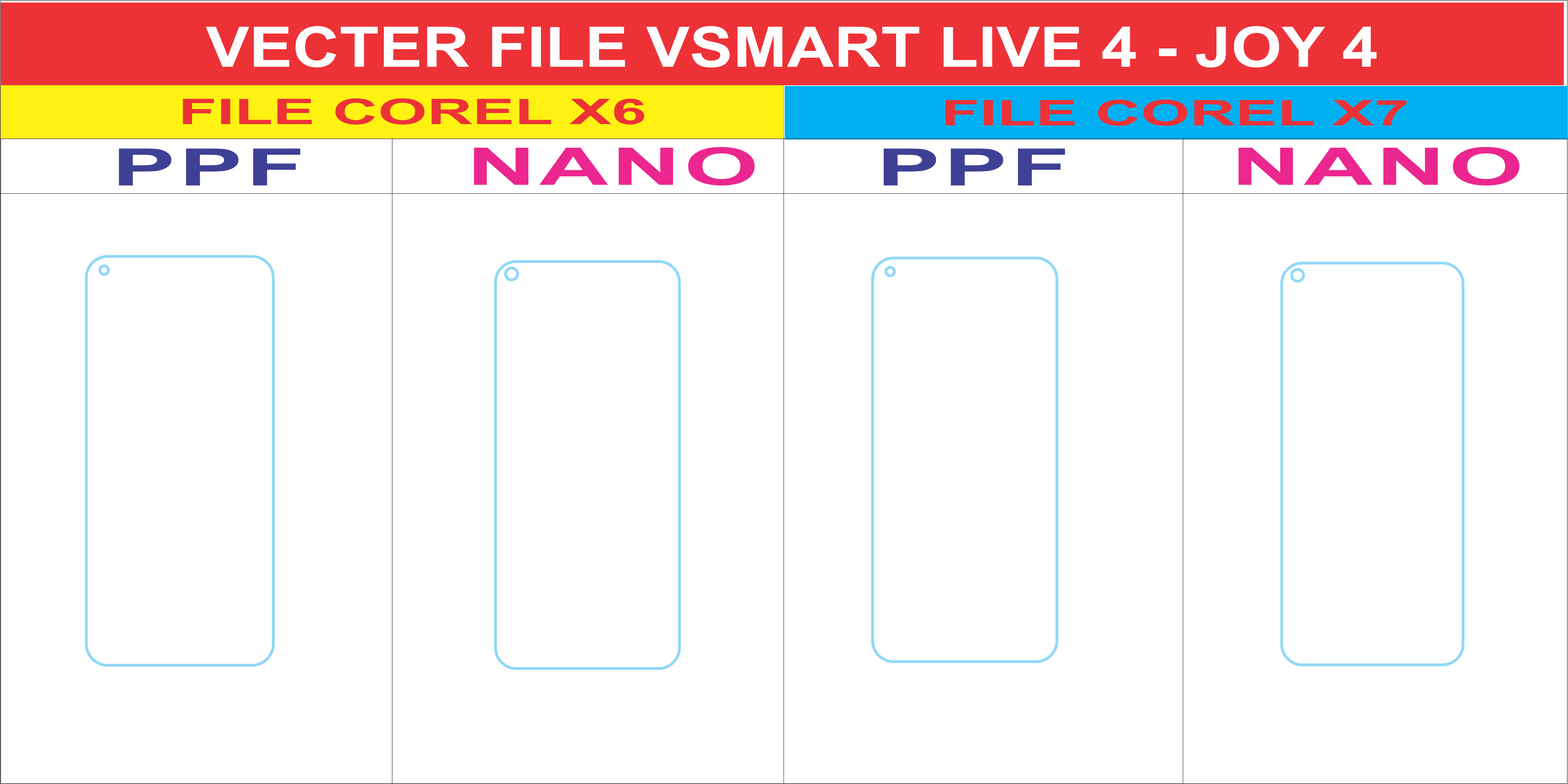 Free File Dán Màn Hình VSMART LIVE 4, VSMART JOY 4 Template Vector