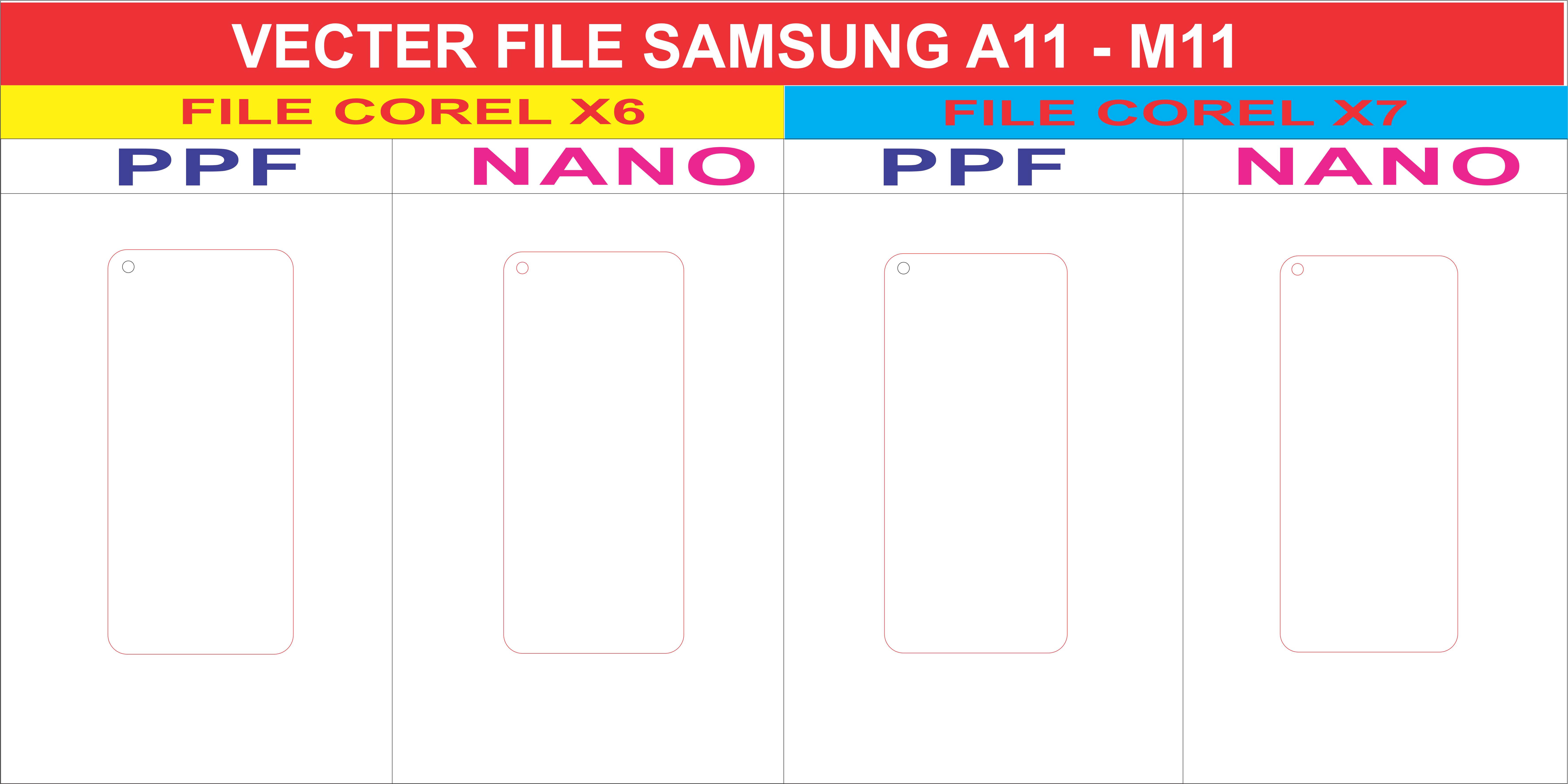 Free File Dán Màn Hình SAMSUNG A11 - Samsung M11 Template Vector