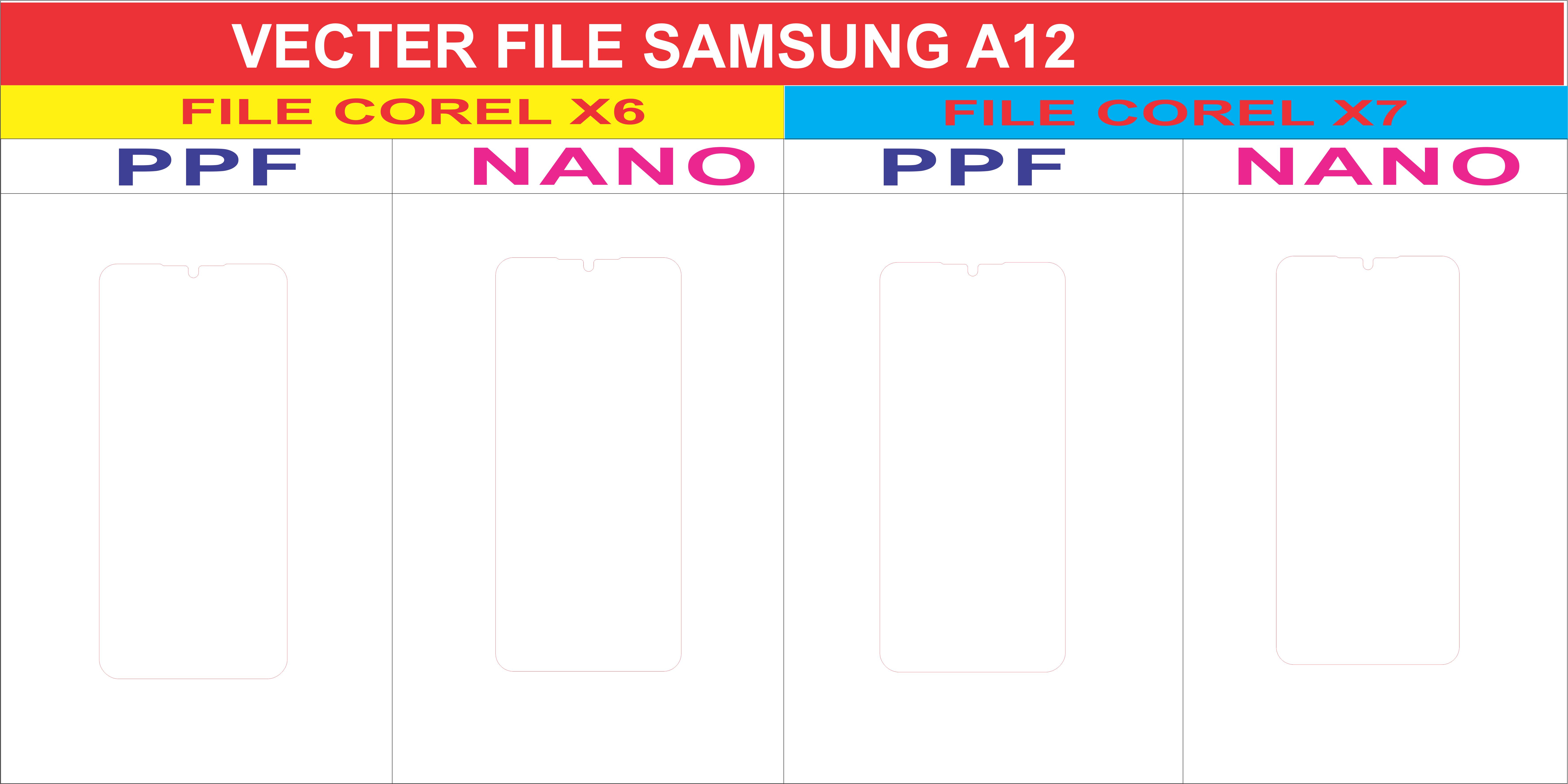 Free File Dán Màn Hình SAMSUNG A12 5G Template Vector