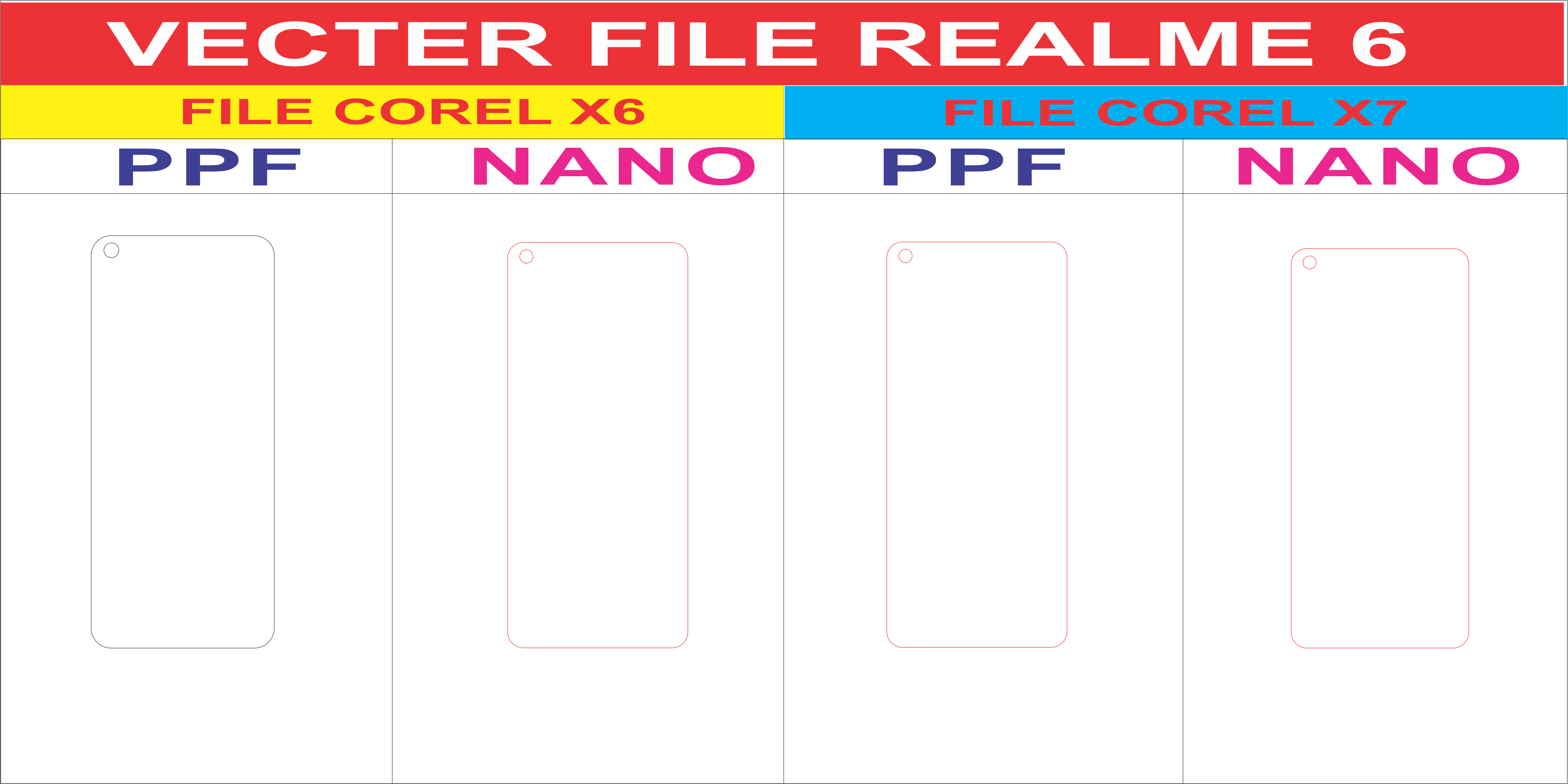 Free File Cường Lực REALME 6 Template Vector